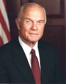 John Herschel Glenn, Jr. (born July 18, 1921) is a former United States Marine Corps pilot, astronaut, and United States senator who was the first American to orbit the Earth and the third American in space.