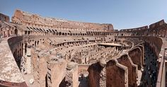 The famed Roman Colosseum, which seated 50,000 spectators who enjoyed gladiatorial bouts, staged animal hunts, battle re-enactments, and epic plays based on Classical mythology. Built by emperors Vespasian and Titus, 72 - 80 CE.  Photo by Paolo Costa Baldi. Wikimedia Commons License: GFDL/CC-BY-SA 3.0