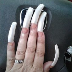 Gin, French Manicure Acrylic Nails, Curved Nails, Long Nails, Double Team, Engagement Rings, Claws, Instagram Posts, Dragon