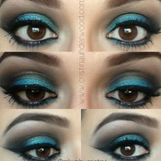 Prom Makeup for Blue Eyes for Prom Night| Prom makeup for blue eyes and blue dress....