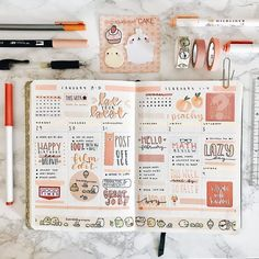 Work on your rainbow bullet journal spread now! Read this article for some incredible rainbow bullet journal theme ideas. Bullet Journal Writing, Bullet Journal Notebook, Bullet Journal Aesthetic, Bullet Journal Ideas Pages, Bullet Journal Spread, Bullet Journal Inspo, Bullet Journal Layout, Bullet Journals, Journal Fonts