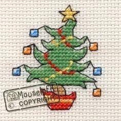 Stitchlets Christmas Card Cross Stitch Kit - Jolly Tree