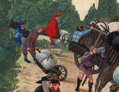 c. 1501 Hans Burckmaier (Hans Burgkmair) - Triumph of Maximilian I, copy that is in the Biblioteca Nacional de Espana in Madrid. Second file link PAGE 51 detail - two sutlers with shoes.
