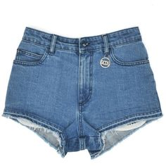 DENIM SHORTS (755 BRL) ❤ liked on Polyvore featuring shorts, bottoms, short jean shorts, jean shorts, denim shorts and denim short shorts
