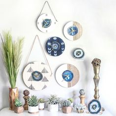 Another gorgeous Indigo Shibori Mud Cloth and Blue Agate Textile Wall Clock! Available and Ships Worldwide ✈