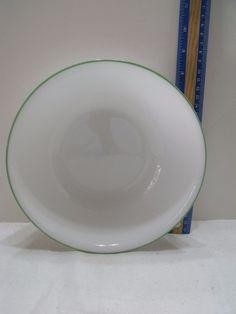 Corelle 1 White Green Rim Serving Bowl Vegetable x Interior Modern, Vintage Kitchenware, Organizer, Planer, Serving Bowls, Vegetables, Tableware, Green, Ebay
