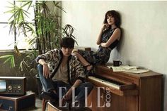 The cast of the upcoming Korean webtoon drama ' We Broke Up' is being featured in the current issue of the fashion publication Elle Magazine. The photos feature Dara, WINNER's Kang Seung Yoon, and fellow co-stars Jang Ki Yong, and Kang Seung Hyun. Kang Seung Yoon, Creative Shot For Graduation, Sandara Park 2015, Seungyoon Winner, 2ne1 Dara, Photo Scan, We Broke Up, Korean Entertainment, Park Photos