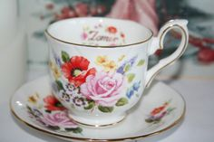 Duchess Fine bone china Zomer vintage teacup with door HomiArticles