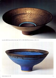 "Lucie Rie, ""Ceramic Review"" Magazine No.154, July / August 1995, p11 Ceramic Tableware, Ceramic Bowls, Ceramic Pottery, Pottery Art, Pottery Ideas, Earthenware, Stoneware, Vases, Sculptures Céramiques"