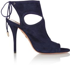Aquazzura Sexy Thing Cutout Suede Sandals - $565.00