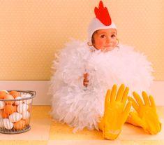 disfraces de animales. Disfraz casero de gallina