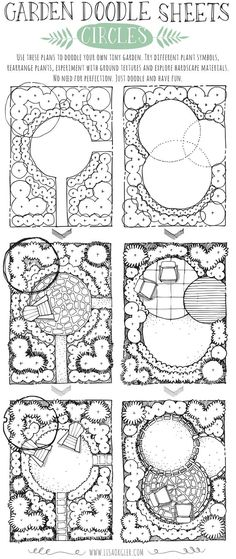 Garden Doodle Sheets: Circles Amaryllis: care after flowering in summer – Plantura Small Garden Layout And Planning