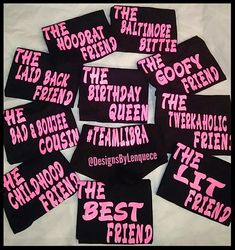 Teen Birthday Shirts Group GLITTER Shirt Squad Womens