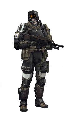 G.N.R IC Trooper Picture  (2d, sci-fi, gun, soldier, trooper, visor, body armour)