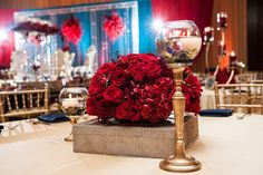 Red & Romantic! <3 Small Centerpieces, Wedding Reception, Gift Wrapping, Romantic, Table Decorations, Flowers, Red, Crafts, Google Search