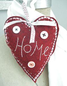 """felt heart, love the """"home"""""""