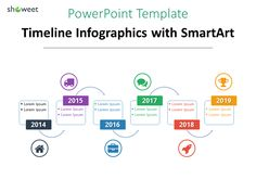 Another example of Timeline infographics for PowerPoint using SmartArt (alternating flow)