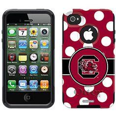 South Carolina sc Gamecocks Otterbox iphone 4 4s case Polka Dots  by PaperMyDay ETSY, $52.00