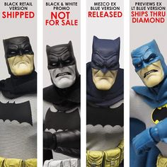 Today, Mezco Toyz posted the following update on their Facebook page to let fans know the status of their Batman ONE:12 orders: Hey gang! Just a quick update for those that have been waiting ever so patiently. The Mezco Exclusive Dark Blue #Batman has been released from the port and is on