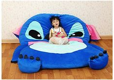 Cute Cartoon Lilo&Stitch Image Sleeping Bag Sofa Bed Twin Bed Double Bed Mattress for Kids. Jo and the baby would have a great time with this! Lelo And Stitch, Lilo Y Stitch, Cute Stitch, Disney Stitch, Giant Stitch, Unicorn Farts, Christmas Gift List, Disney Home, Cute Cartoon