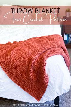 Diy Crochet Afghan, Quick Crochet Blanket, Afghan Crochet Patterns, Crochet Home, Knit Or Crochet, Crochet Crafts, Crochet Baby, Crochet Projects, Crochet Blankets
