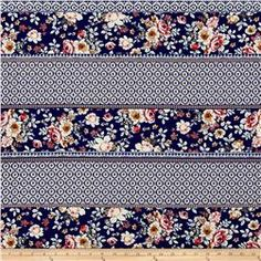 abefa5a2859 ITY Brushed Stretch Jersey Knit Bohemian Multi Floral Blue/Pink Fashion  Fabric, Knitted Fabric
