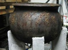 How to make a cheap plastic cauldron look old and spooky... by jami