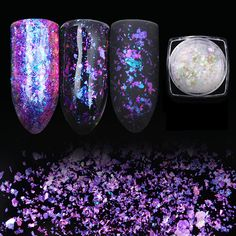 ตอรอง 1 Box BORN PRETTY Transparent Chameleon Nail Sequins Dust Dazzling Paillette Manicure Nail Art Glitter Sheet Decorations คลกทน