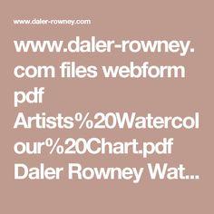 www.daler-rowney.com files webform pdf Artists%20Watercolour%20Chart.pdf Daler Rowney Watercolour Chart