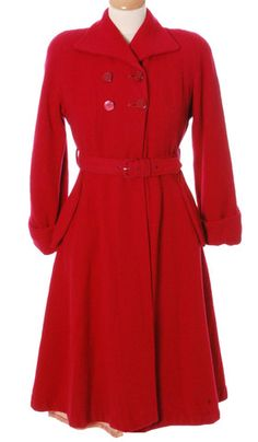79088387c4 1940s CC41 Utility double breasted wool swing coat 1940s Dresses