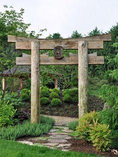 japanese garden design landscape asian with island pagoda asian garden statues and yard art Garden Entrance, Garden Arbor, Diy Garden, Garden Care, Garden Projects, Garden Landscaping, Garden Archway, Asian Garden, Chinese Garden