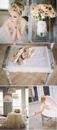 ballet-inspired wedding shoot - gorgeous!! {Jill La Fleur | Jessica Claire} via Style Me Pretty