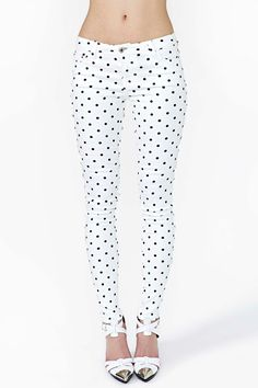 Polka Dot Jeans, need!