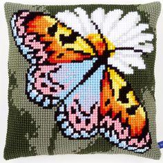 Butterfly & Daisies - Kruissteekkussen - Vervaco