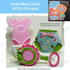 Learn how to make these for baby invitations
