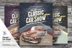 Classic Car Show Flyers by kinzi21 on @creativemarket