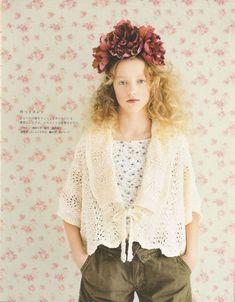 대바늘 뜨기 가디건 : 네이버 블로그 Crochet Books, Crochet Lace, Crochet Style, Knitting Patterns, Crochet Patterns, Japanese Crochet, Pretty Females, Mori Girl, Vintage Knitting