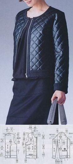 The hands (Creativity, Sewing, Patterns) we Sew a women's jacket // Taika Coat Patterns, Clothing Patterns, Dress Patterns, Sewing Patterns, Gilet Kimono, Sewing Blouses, Diy Fashion, Fashion Design, Pattern Drafting