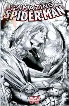 Mysterio and Mary Jane sketch cover by Jay Anacleto  Comic Art