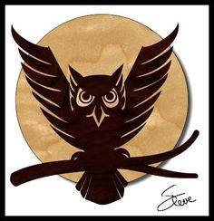-    The moon in this owl pattern is seven inches in diameter. That will give you a reference of the pattern size.  Printing scroll saw pat...
