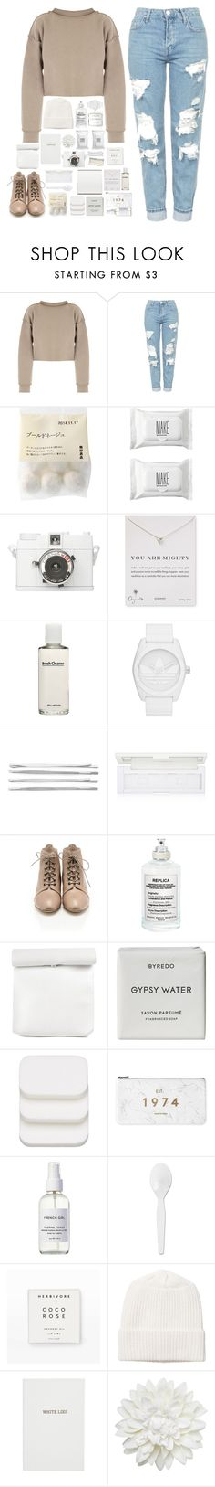 """""""if you hadn't found me"""" by kate-kat-kit ❤ liked on Polyvore featuring My Mum Made It, Topshop, Make, Lomography, Dogeared, shu uemura, adidas Originals, Cara, Loeffler Randall and Maison Margiela"""