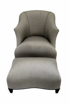 Donghia Official Shell Chair With Ottoman In Rubelli Tweed