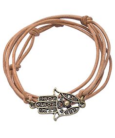 Diana Warner Brown Hamsa Wrap Bracelet