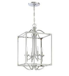 Craftmade 41434-CH Sophia 4 Light 15 inch Chrome Foyer Ceiling Light #LightingNewYork