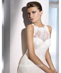 sexy A-line lace wedding dress. More details pls visit http://www.dressdo.com