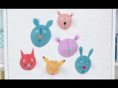 Crafts for Kids: Cute Paper Animal Heads
