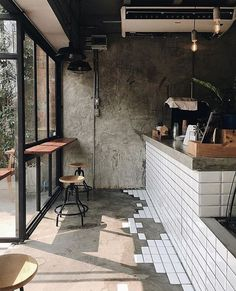 Ideas for kitchen bar table ideas coffee shop Small Coffee Shop, Coffee Shop Design, Cute Coffee Shop, Coffee Shop Bar, Kitchen Window Bar, Kitchen Tiles, Kitchen Design, Kitchen Flooring, Kitchen Decor