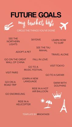 Part of 2019 goals.. In Shaa Allah! Before I Die, 30 Before 30, 30 Things To Do Before 30, Bucket List Quotes, Free Instagram, Trip Planning, Travel List, Travel Goals, List Of Goals