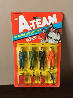 A-Team New in package action figures 3 3/4 tall - 4 good guys #Galoob