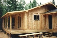 # 1- The cost to have a vertical cabin built for you is probably 1/2 that of a horizontal style building. # 2- The ease of locating logs to pur..